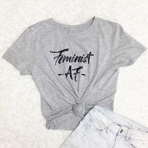 Feminist AF Short Sleeve T Shirt 8O